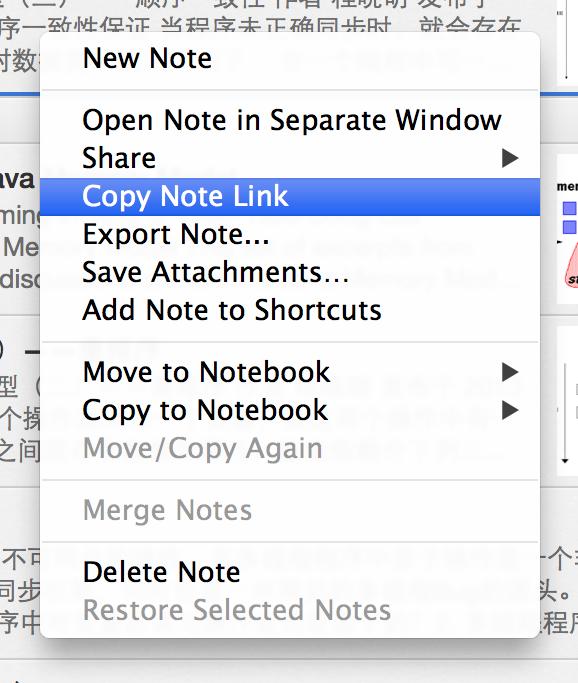 Copy Note Link