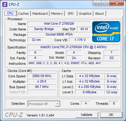 ThinkPad 520 CPU