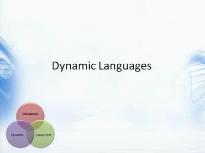 编程语言的发展趋势及未来方向(4):动态语言